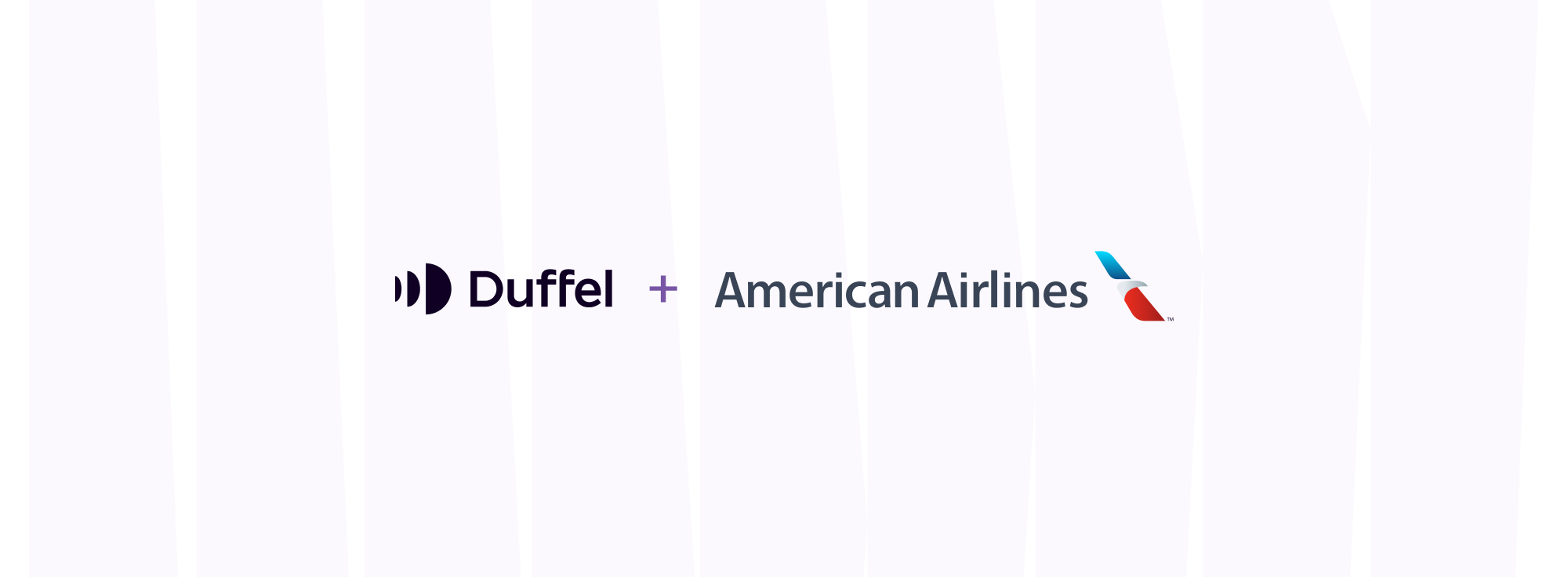 Duffel and American Airlines logos